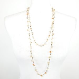 Versona Double Layer Long Beaded Necklace